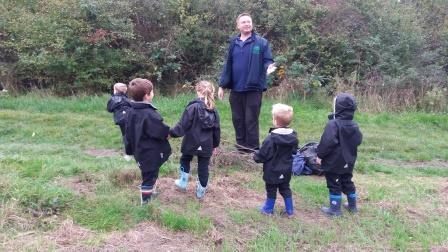 Ashtead Pre-Prep explore the forest school