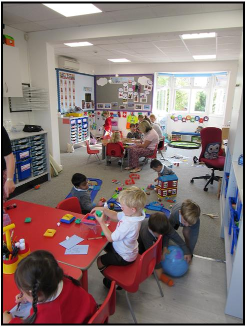 Ashtead Pre-Prep classroom filled with activity